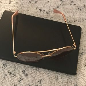 Betsey Johnson Accessories - Betsey Johnson Round Pink Sunglasses